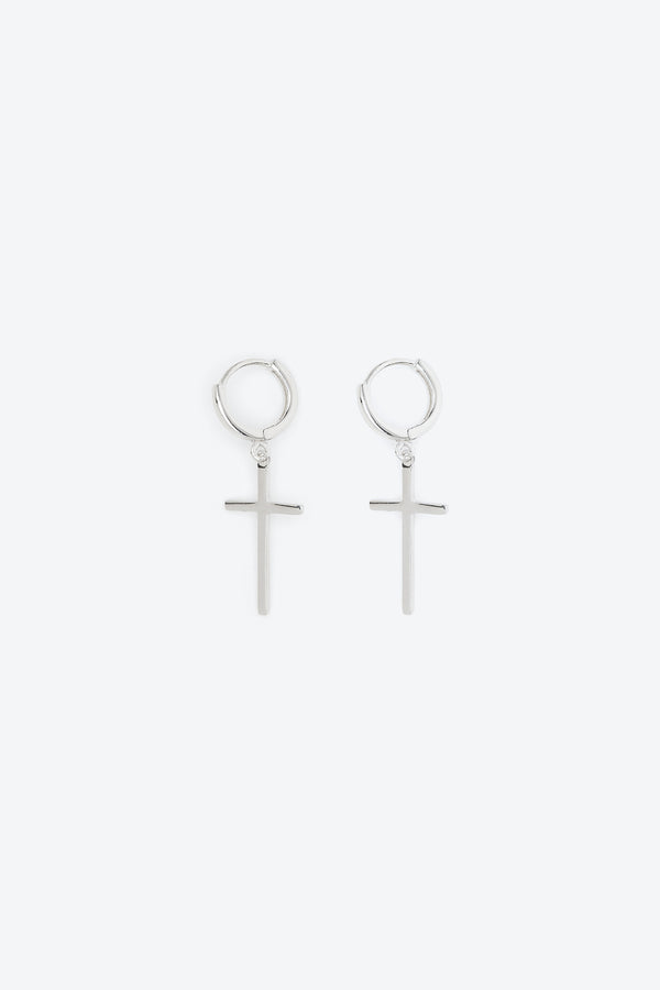 .925 Cross Earrings