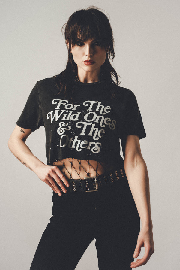 For The Wild Ones Raw Edge Cropped Tee