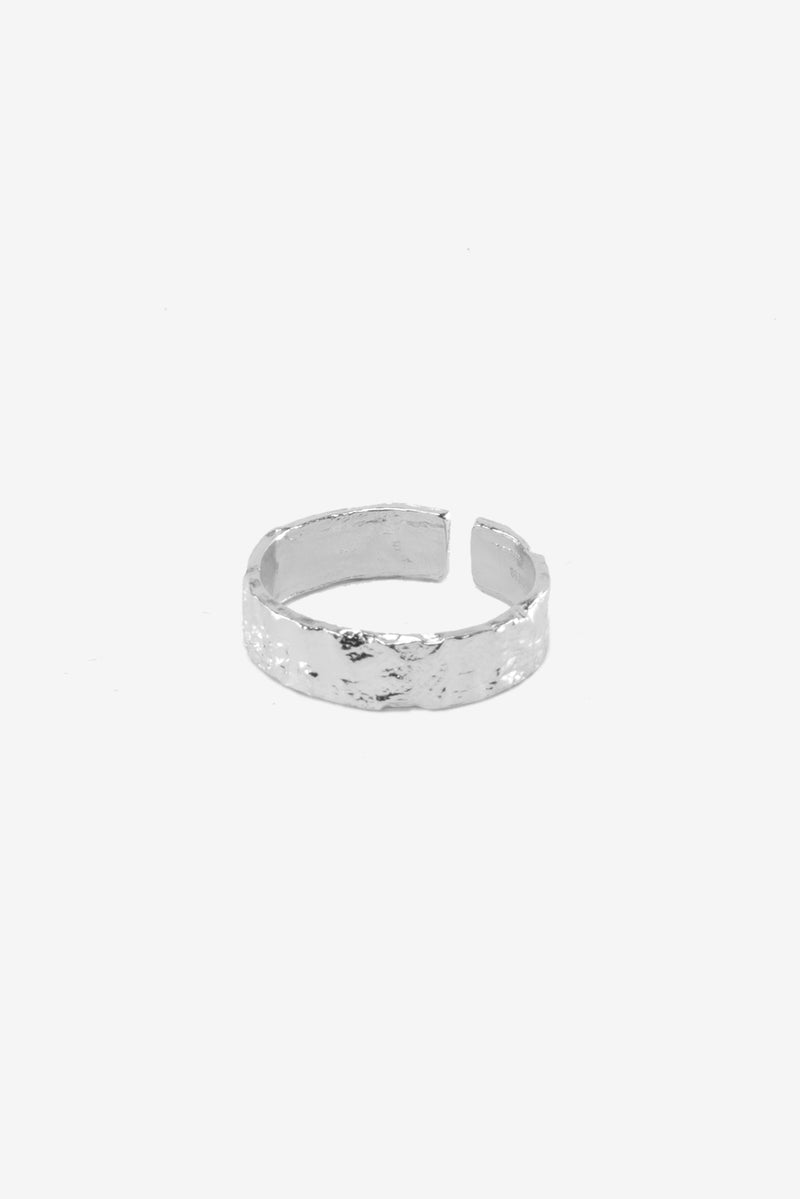 .925 Crushed Band Ring