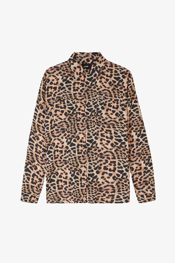 LS Leopard Shirt / Natural