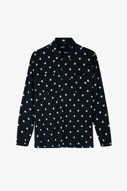 LS Polka Dot Shirt / Black