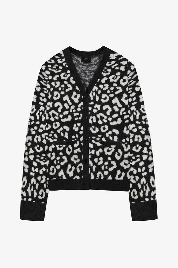 New Skool Leopard Knit Cardigan