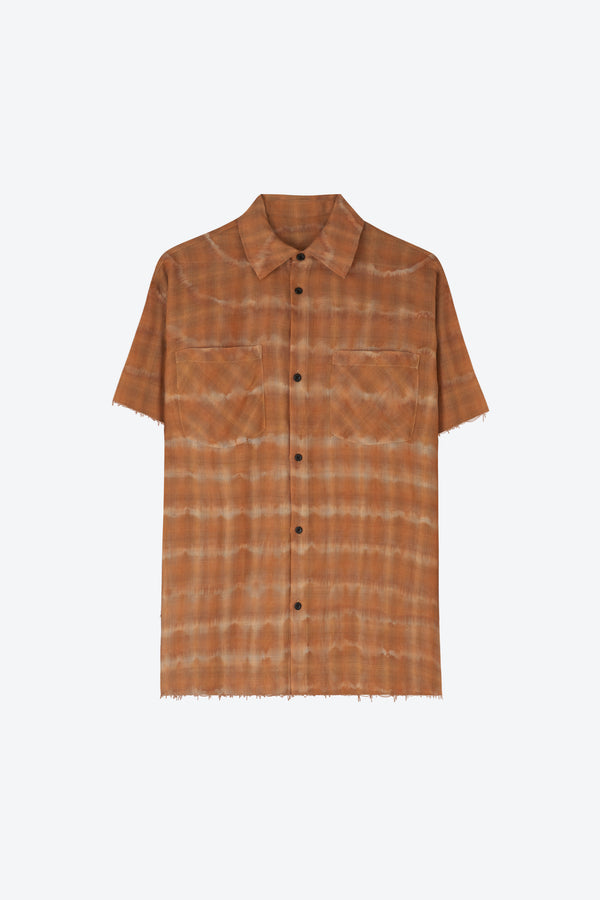 S/S Faded Flannel Shirt