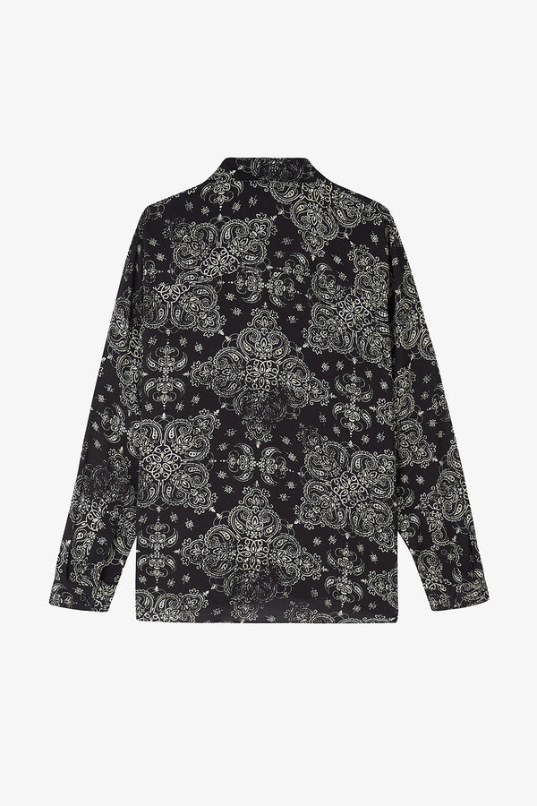 LS Paisley Shirt / Black