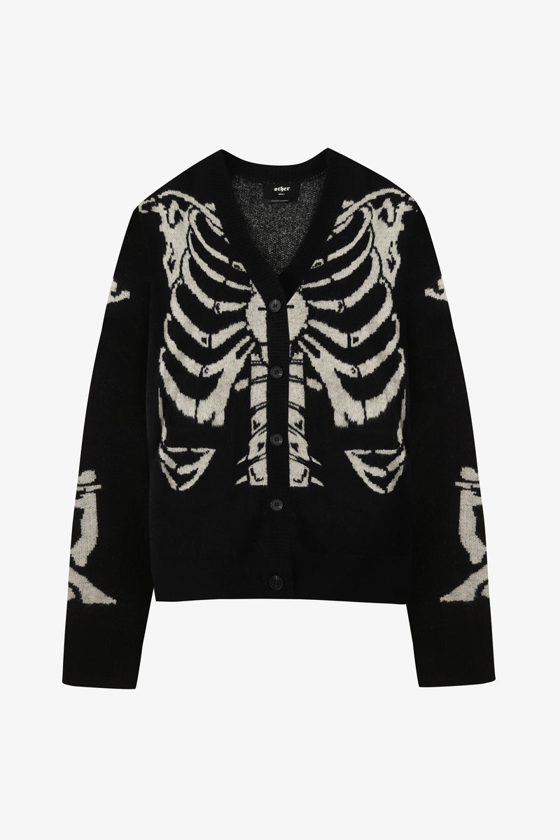 Skeleton Knit Cardigan