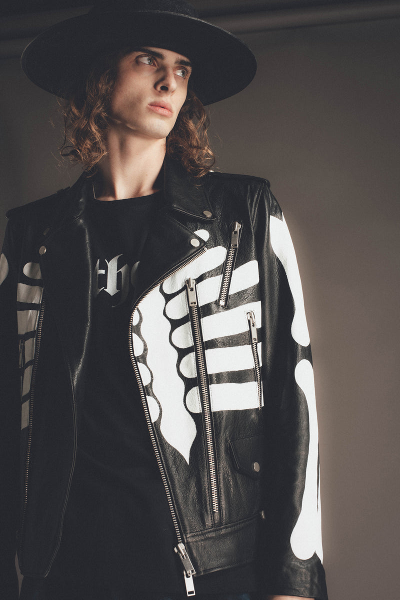Skeleton Leather Jacket