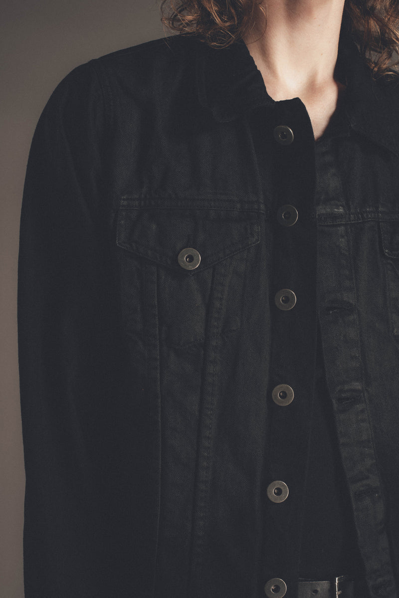 Denim Trucker Jacket | Waxed Black