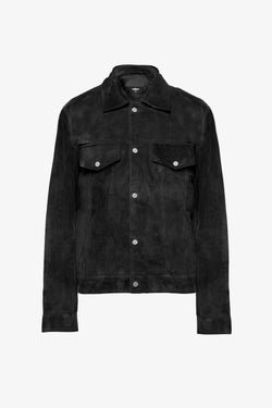 Suede Trucker Jacket