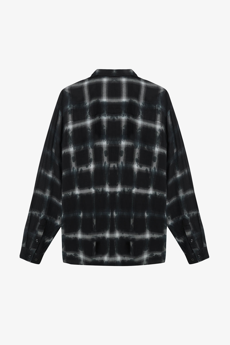 Flannel Shirt | Black Tye Dye