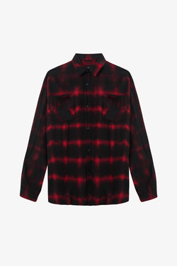 Flannel Shirt | Red Tye Dye