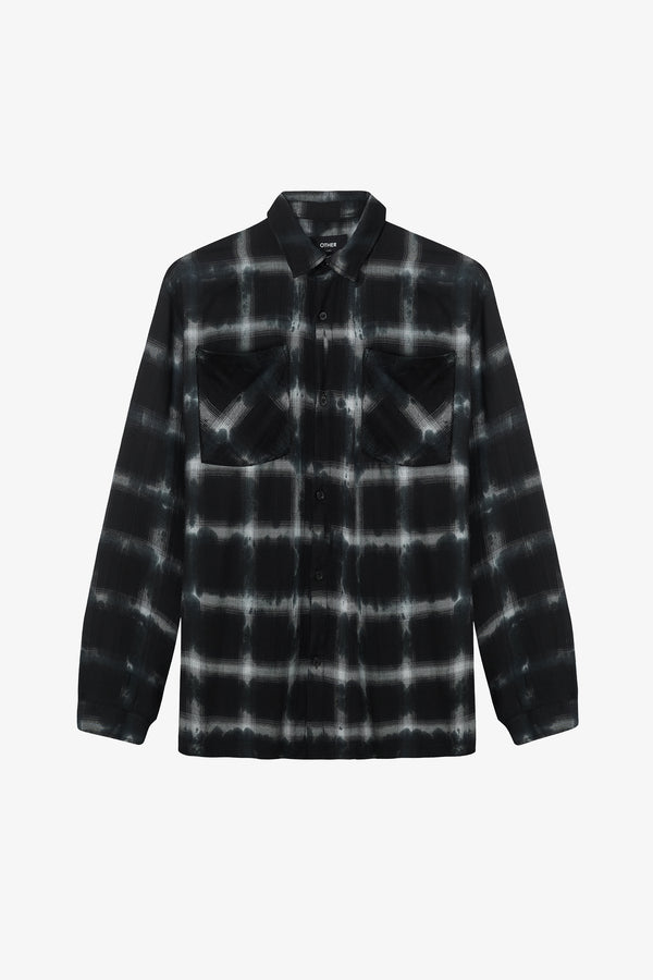 Flannel Shirt | Grey Tye Dye