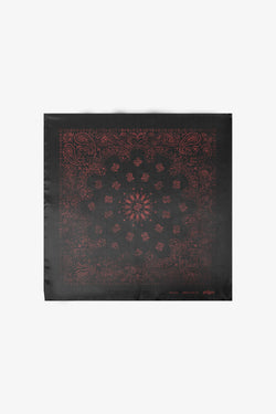Silk Bandana | Black & Red Vintage Paisley