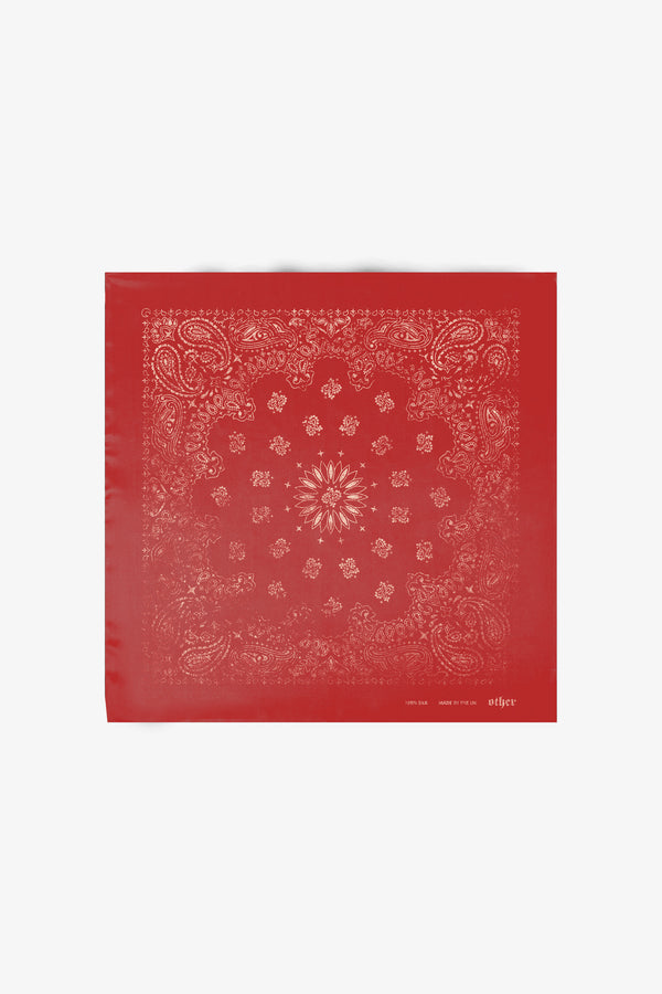 Silk Bandana | Red Paisley