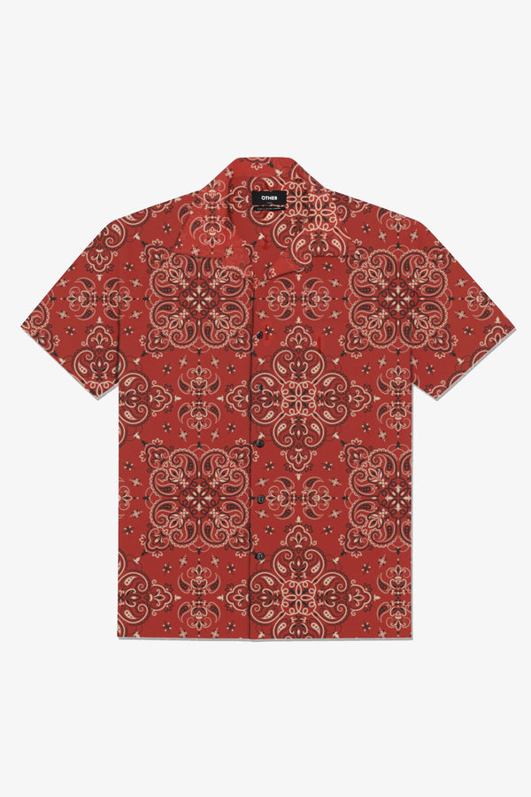 Cuban Shirt | Red Piasley