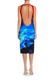 Halterneck Maldives Plunge Dress