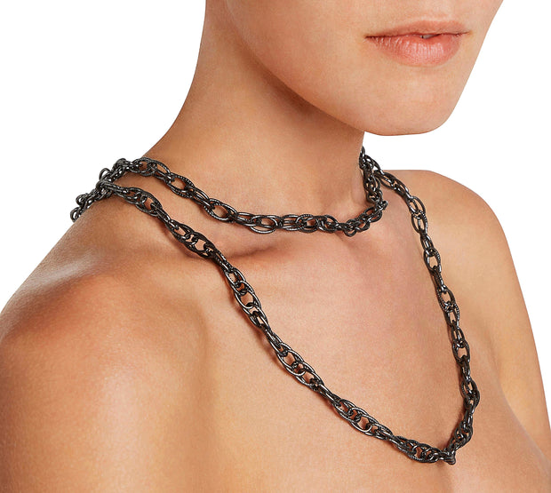 Rutenio double Chain Necklace