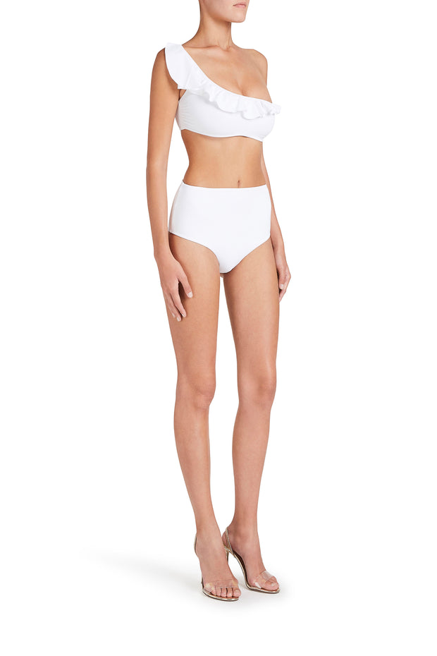 High Waisted White Culotte