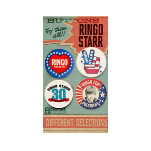 Ringo Starr Peace & Love ™ 30th Anniversary Button Pack