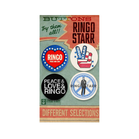 Peace Love Ringo Button Pack