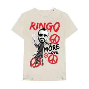Ringo Starr Peace & Love ™ Give More Love Bicycle T-Shirt