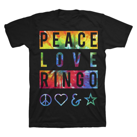 Peace Love Ringo Banner T-Shirt