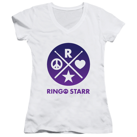 Ringo Starr Peace & Love ™ X Ladies V-Neck T-Shirt