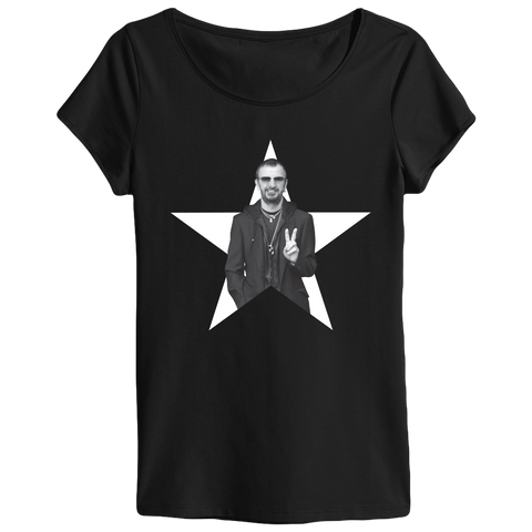 Ringo Starr Peace & Love ™ Star Photo Ladies T-Shirt