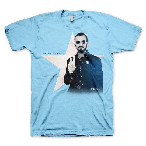 Blue Peace Sign Star Tee