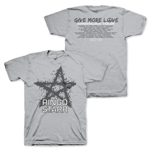 Give More Love Grey USA Tour T-Shirt