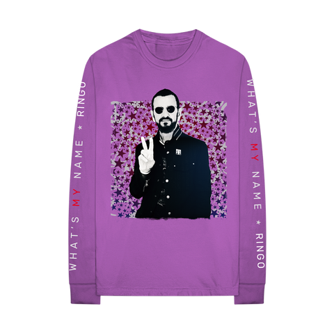 Purple Peace Sign Long Sleeve