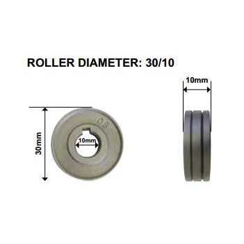 Drive Roll V-Groove 0.6mm - 0.8mm