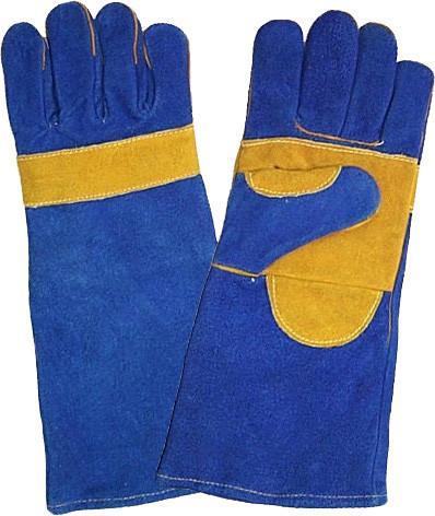 Gloves 8 Blue Lined Yellow Palm Safety Equipment