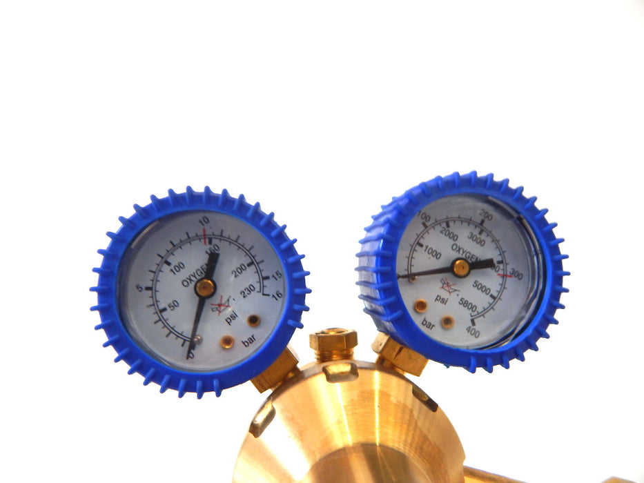 Oxygen Regulator Single Stage Gauges