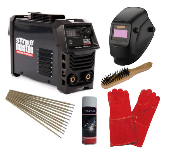 Strike Master - SM 200 Inverter Welding Machine Combo - 200 Amp DC Inverter Welder