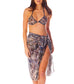 Bali beach sarong with bikini top