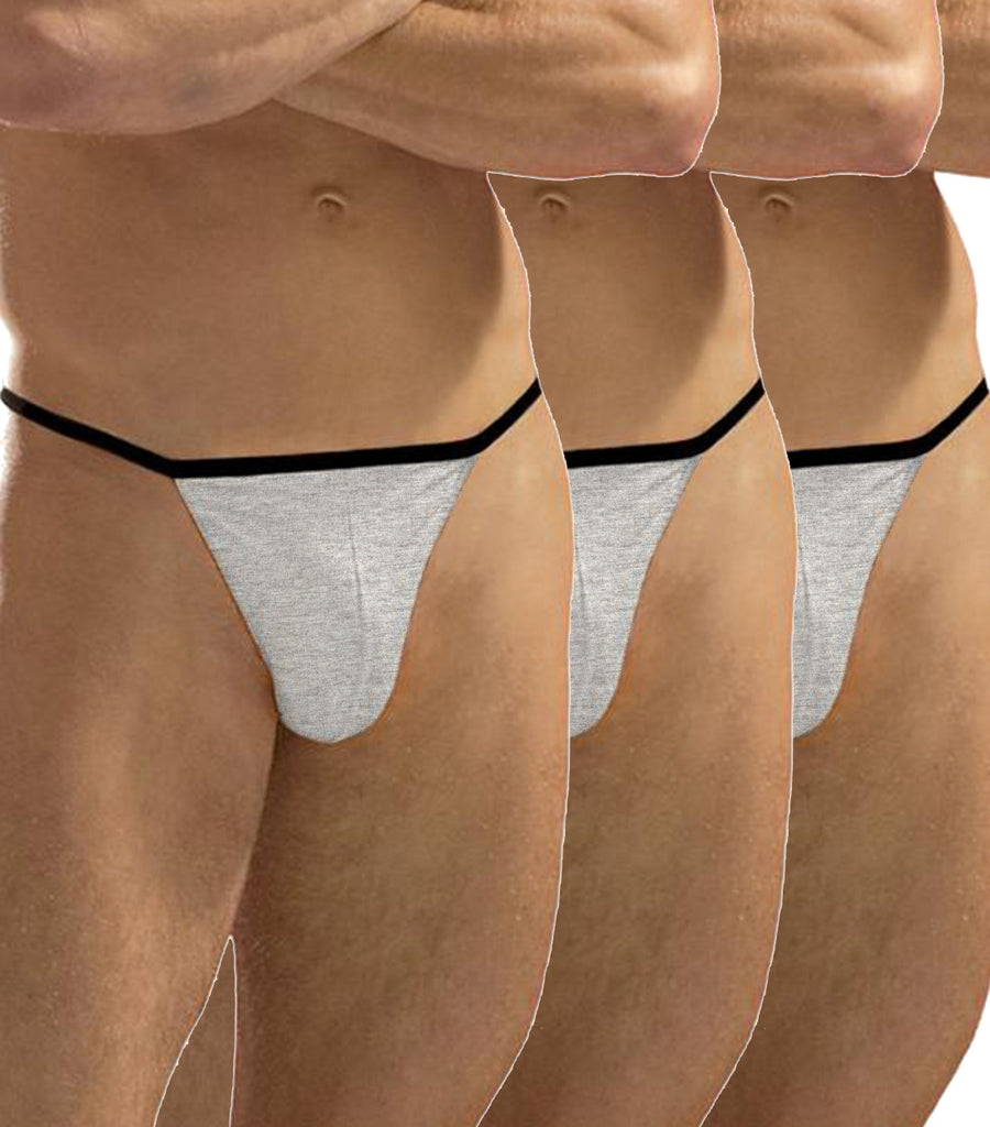 Apollo G-String Silver Pack of 3