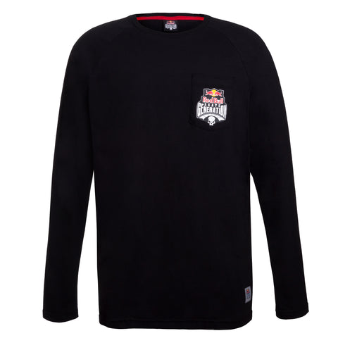T- shirt manga longa Red Bull Pocket logo
