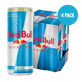 Red Bull Sugarfree - 4 Latas