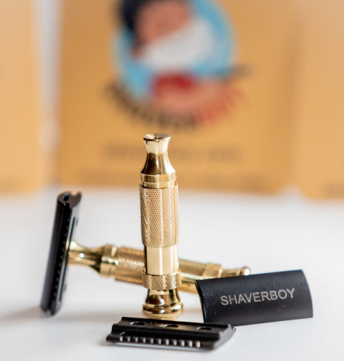 Shaverboy Black & Brass Safety Razor