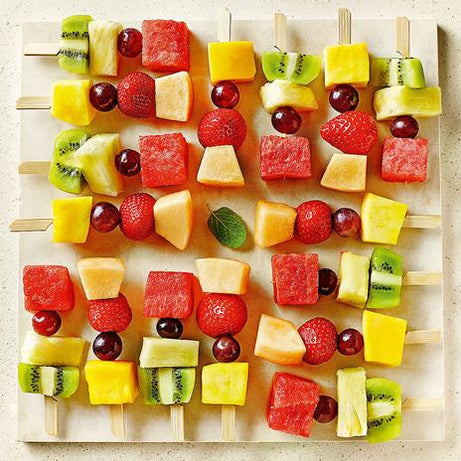 Brighten Up Winter with Rainbow Fruit Kebabs!