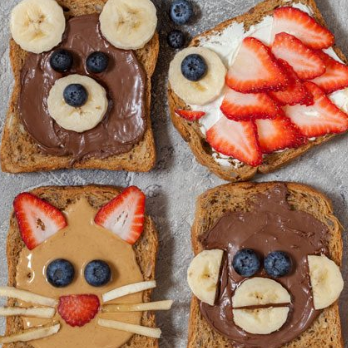 Mom's Sous Chef: Cute Animal Toast Treats