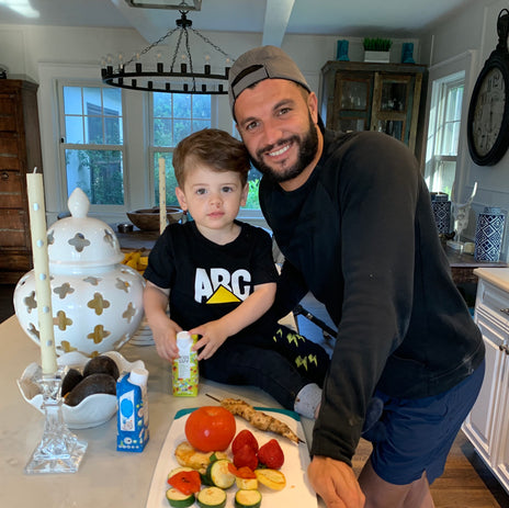 Like Father, Like Son: Brian Mazza's healthy eating habits for his son Leo