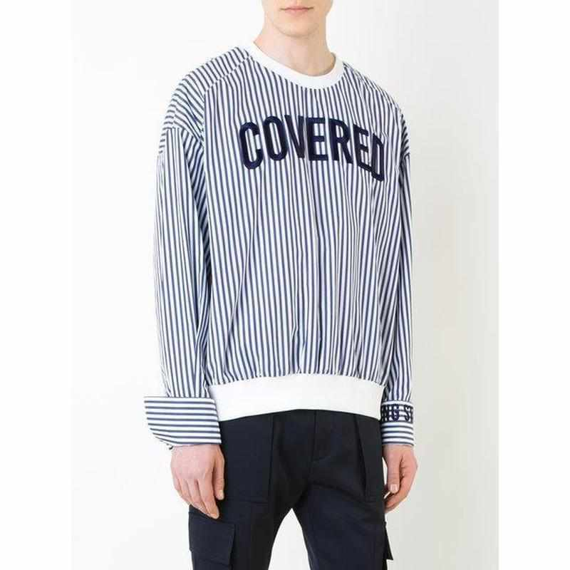"""Covered"" Striped Shirt - Kawaii Nation"