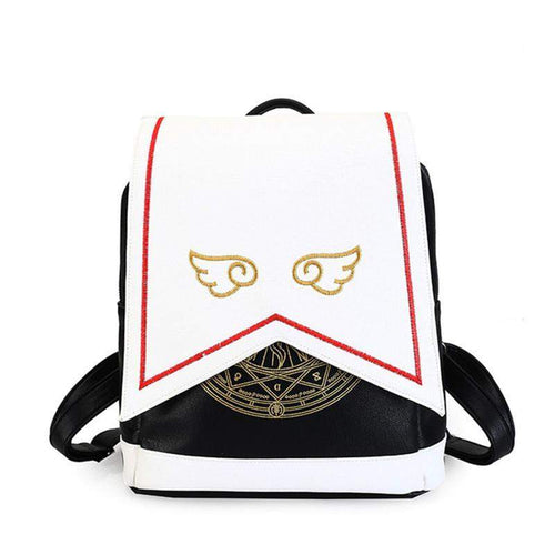 """Angel Wings"" Leather Backpack"