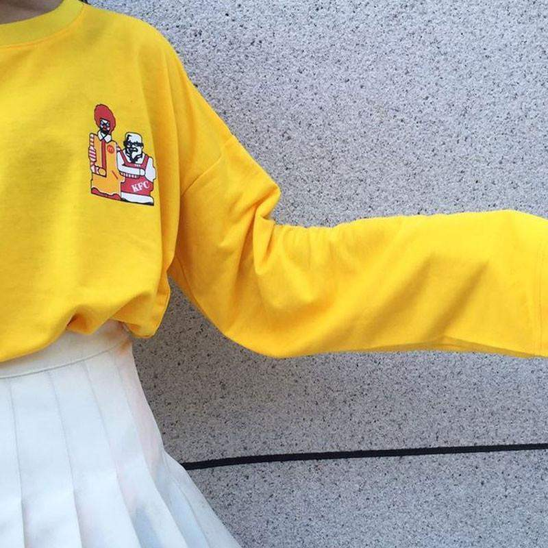 """McD vs. KFC"" Long Sleeved Shirt"