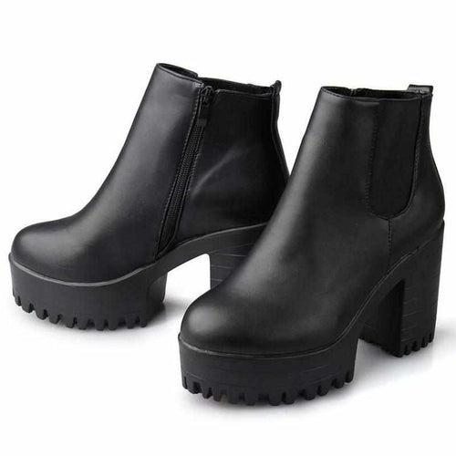 """Chunky"" Ankle Boots - Kawaii Nation"