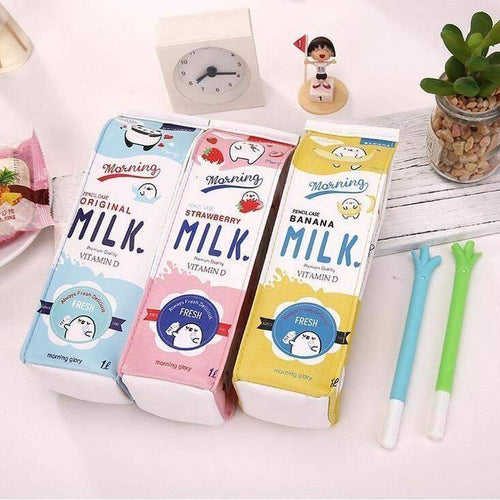 """Cutey Milk"" Pencil Case - Kawaii Nation"