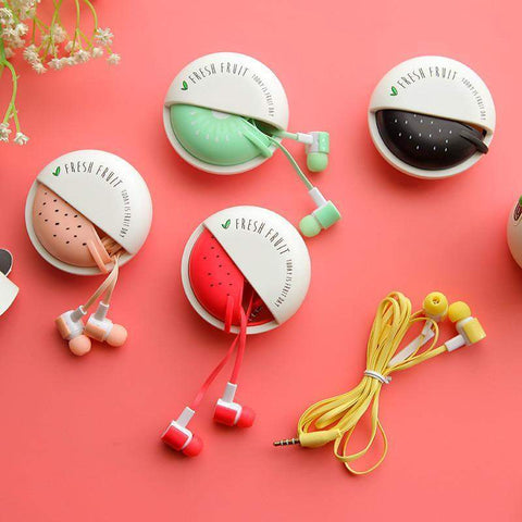 """Colorful Fruit Candy"" Earphones"