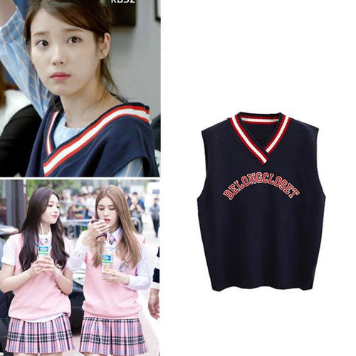 """Somi Knitted V-Neck"" Vest"
