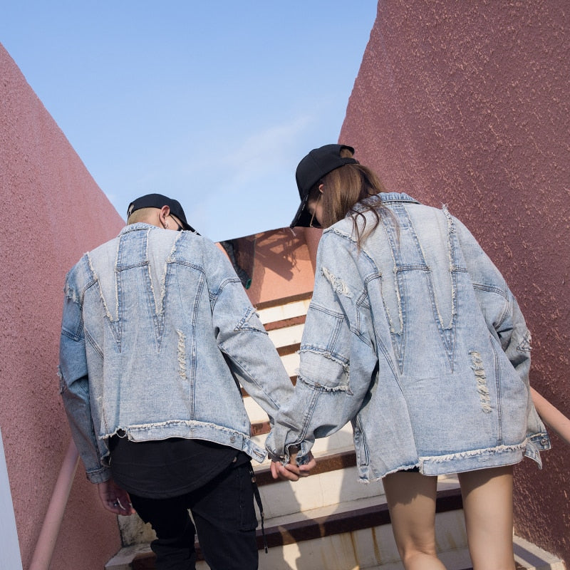 """Ripped Duo"" Jean Jacket"